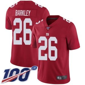 Mens Giants Saquon Barkley 100th Jersey Inverted